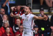 Billy Sharp dopo il gol contro il Bournemouth